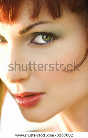 Close up portrait of attractive Caucasian woman in Maui, Hawaii, USA.