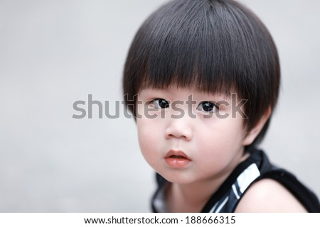 close up portrait of cute boy