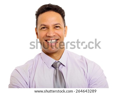close up portrait of good looking middle aged business man - stock photo