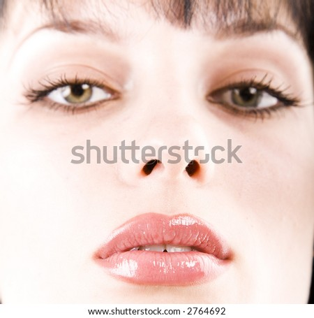 Close-up portrait of woman with beautiful make up
