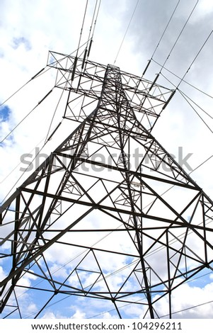 Close-up Power Transmission Tower