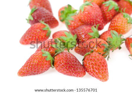 close up red ripe  strawberry , fresh fruits