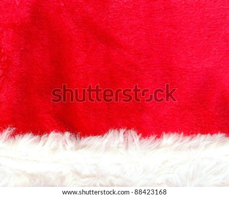 Close up red Santa Claus hat texture to backround - stock photo