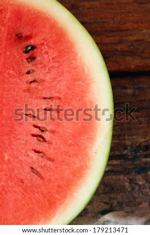 Close up red watermelon background texture