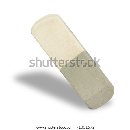 Close-up rubber eraser on white background. - stock photo