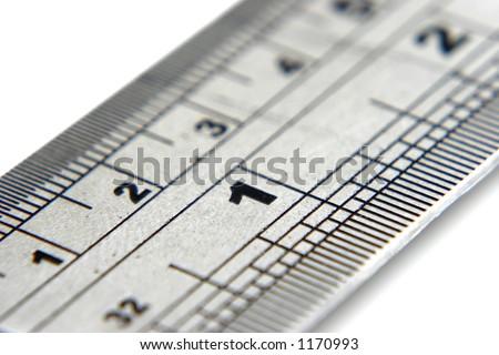 Close up ruler - stock photo