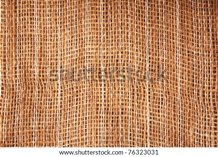 Close-up sack texture - stock photo