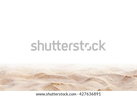 Close up Sand isolated, Soft sand background. Summer background. - stock photo