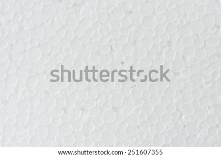 close up seamless background and texture of white foamed polystyrene sheet surface - stock photo