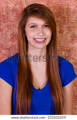 Close up shot of a Beautiful Girl Smiling - stock photo