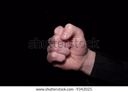 Close up shot of a clenched fist