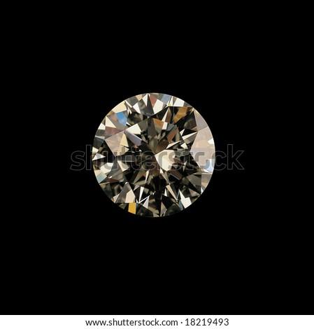 close up shot of a diamond in black - stock photo