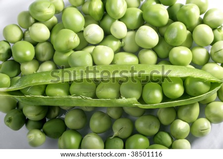 close up shot of a fresh green peas