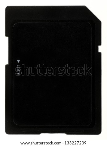 Close up shot of a SD card, on white - stock photo