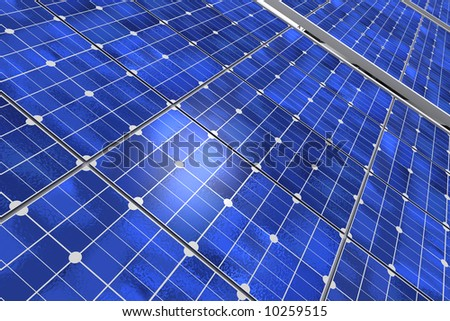 Close-up shot of a solar panel - stock photo