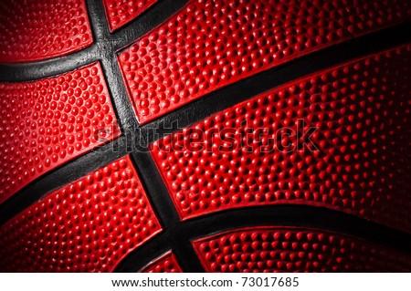 close up shot of basketball - background - stock photo