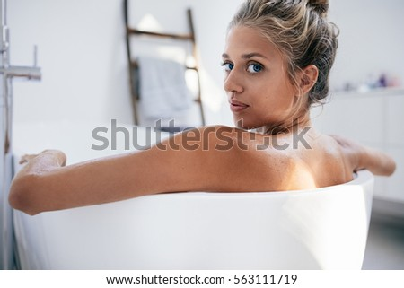Bath busty mature