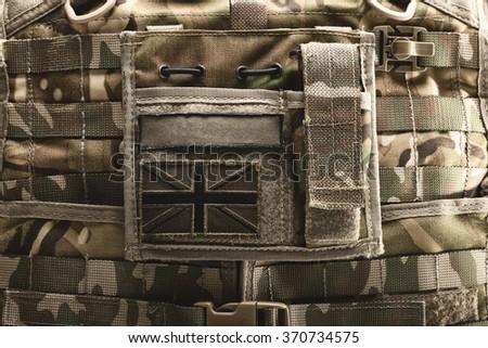 Close up shot of bulletproof vest - stock photo