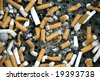 close up shot of cigarettes butt - stock photo