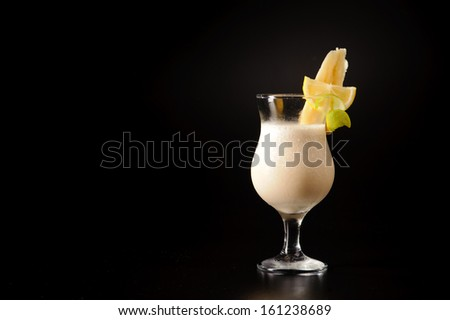 Close-up shot of colourful cocktail - stock photo