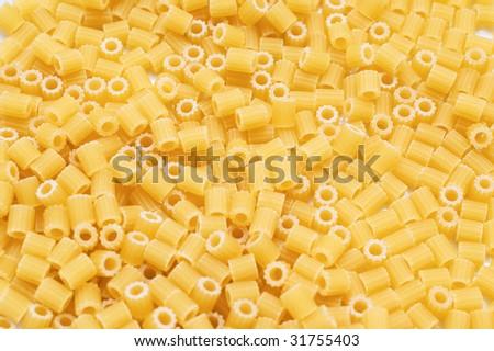 Close-up shot of ditalini Italian pasta - stock photo