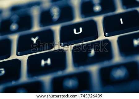 Close-up Shot of laptop keyboard.