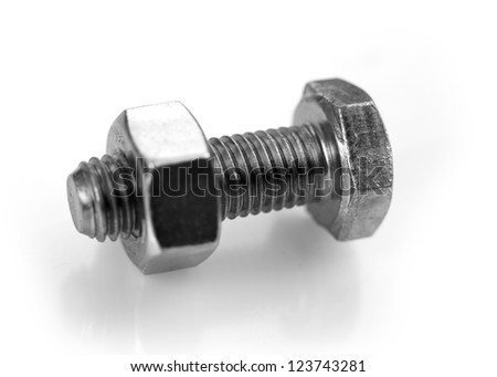 Close up shot of nut and bolt