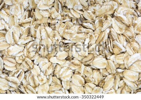 close up shot of oat flakes background - stock photo