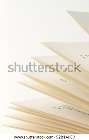 Close-up shot of pages of a book - stock photo