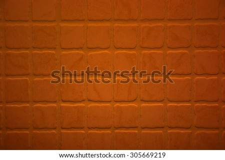 Close up shot of rough terracotta tiles - stock photo