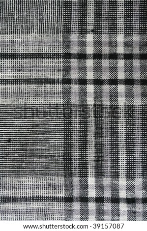 Close up shot of square pattern fabric background. - stock photo
