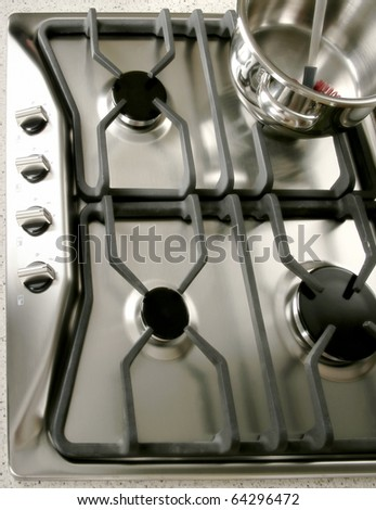 close up shot of stove for Modern Kitchen - stock photo