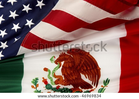Mexican American Flag Wallpaper Mexican And American Flags