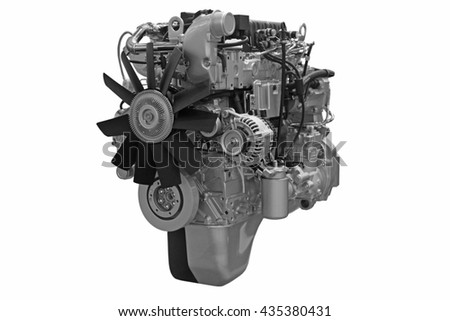 Close up shot of turbo diesel engine