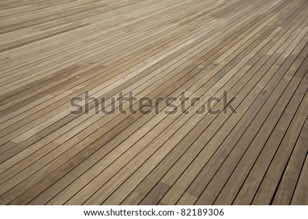Close up shot of Wooden floor pattern - stock photo
