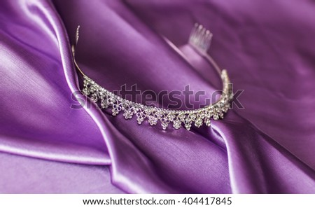 Close-up silver diadem