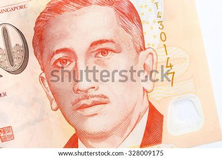 close up 100  singapore money  - stock photo