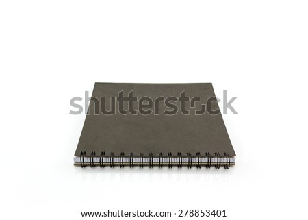 Close up Sketch book on white background. - stock photo