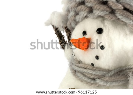 Close-up Snowman - stock photo