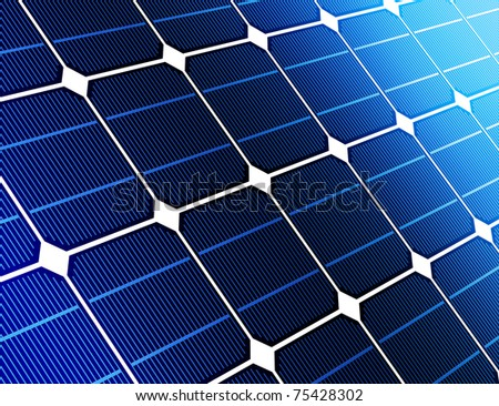close up solar cell battery harness energy of the sun - stock photo