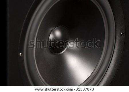 close-up speaker - stock photo