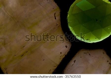 close-up stainedglass - stock photo