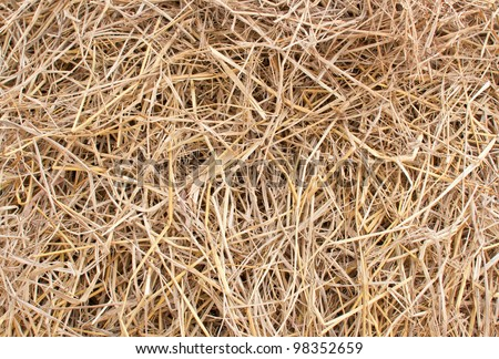 Close up straw texture - stock photo