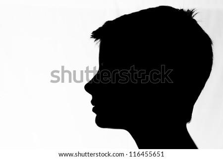 close up studio portrait of beautiful blond teenage girl. - stock photo