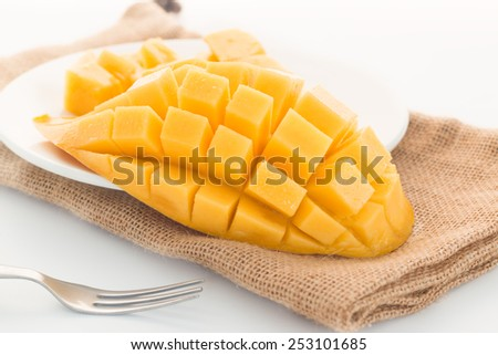 Close up Sweet mango fruit  - stock photo