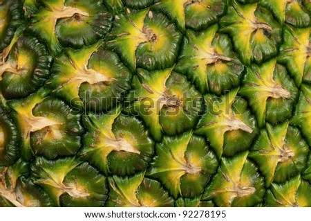 Close up texture of fresh ripe pineapple background - stock photo