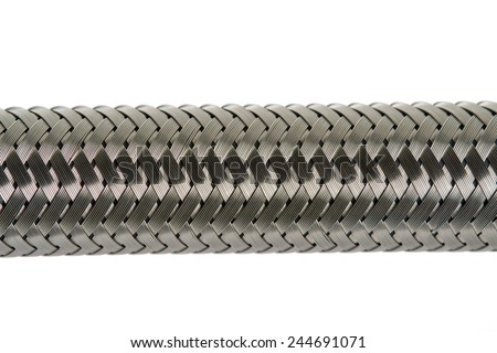 Close up texture of  inlet hose. - stock photo