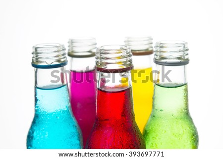 close up  the cool colorful drink - stock photo