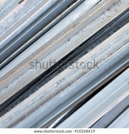 Close up the steel rods for construction - stock photo