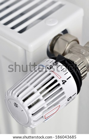 close up thermostat - stock photo